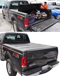 100 Fiberglass Truck Bed Cover BAKFlip F1 Hard Tonneau Folding Aluminum And
