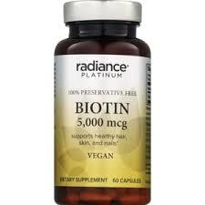 Radiance Platinum Biotin Capsules 5000mcg 60CT