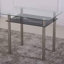 esstisch glas mit 6mm sicherheitsglas facettenschliff glastisch perfekt geeignet als esszimmertisch küchentisch 90x60x75cm schwarz
