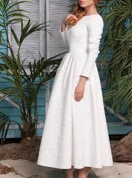 Vintage White Long Dress