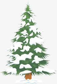 Green Snow Christmas Tree Clipart The PNG Image And