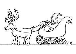 Image Of Reindeer Coloring Pictures