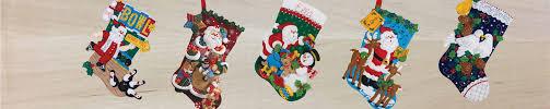 Menards Christmas Tree Skirts by Bucilla Felt Applique Christmas Stocking Kits Merrystockings