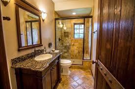 Drop In Bathroom Sink With Granite Countertop by Rustic 3 4 Bathroom With Drop In Sink U0026 Flush In Roseville Ca