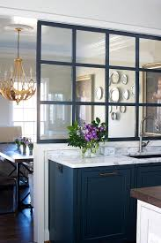 Glass Partition Over Kitchen Sink