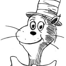 Drawing Dr Seuss The Cat In Hat Coloring Page