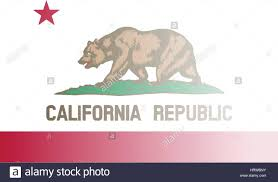 The Flag Of USA State California With Fade