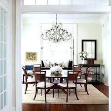 Round Table Rug Under Dining Room Rugs Area