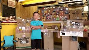 See The Cardboard Arcade Thats Earned A 9 Year Old 79K For His