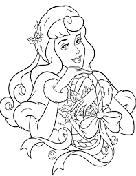 Disney Princess Christmas Coloring Page Printable Pages