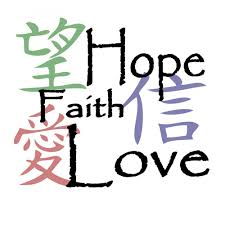 Chinese Symbols For Hope Love And Faith In Tattoo