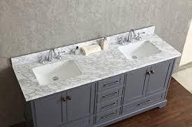72 Inch Double Sink Bathroom Vanity by Stufurhome Newport Grey 72 Inch Double Sink Bathroom Vanity With