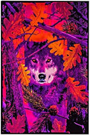 Opticz Autumn Wolf Blacklight Reactive Poster 23 X 35in