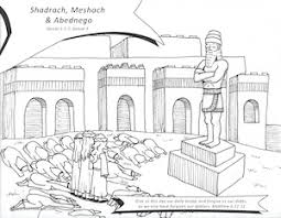 Resource Sheet Shadrach Meschach Abednego Coloring