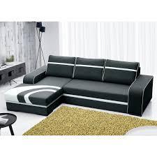 canap angle gauche convertible canapé angle gauche convertible en tissu polyester noir flores dya