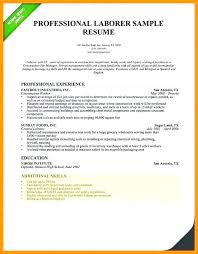 General Laborer Resume Objective Sample Construction Worker Samples For Skills And Abilities On A Skill