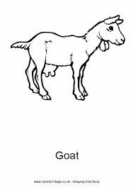 Goat Colouring Page 2