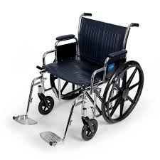 Bariatric Transport Chair 24 Seat by Extra Wide Wheelchairs Medline Industries Inc