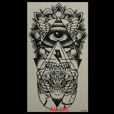 2017 Rushed Waterproof Temporary Tattoo Sticker Eye Of God Totem Body Art Water Transfer Fake Flash