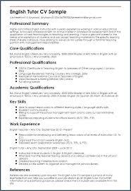 Tutoring Resume Sample Tutor Peer