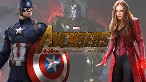 Avengers Infinity War Scarlet Witch On Set Evans Retiring Cap