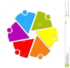 Hombres De Negocios Del Trabajo En Equipo Y Logotipo Del Vector De