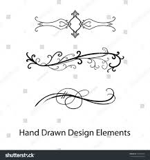 Curls Stock Flourish Ornate Decoration For Pointed Pen Ink Calligraphy Wedding Swirl Designs