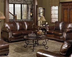 traditional leather 88 sofa in brown mathis brothers furniture