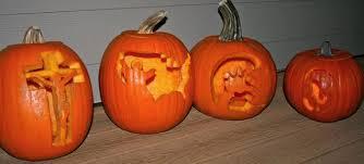 Christian Pumpkin Carving Stencils Free by Catholic Cuisine Saint O Lantern Link Up