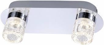 paul neuhaus deckenleuchte bilan mit festverbautem led leuchtmittel spritzwassergeschützt für badezimmer geeignet mit acrylglas klar warmweiße