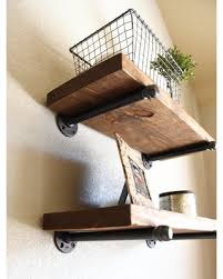 925 Deep Farmhouse Floating Shelf Industrial Rustic Shelves Wood And Pipe Kitchen