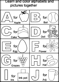 Printable ABC Coloring Pictures For Toddlers