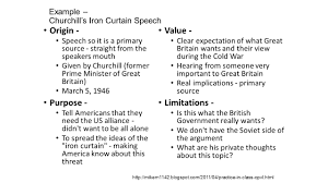 Iron Curtain Speech Cold War Definition by Opcvl Learning Objective Understand How To Assess The Value And
