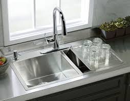 Vault Large Medium Self Rimming Undercounter Kitchen Sink With Kohler Prepare 13