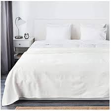 ikea indira tagesdecke in weiß 100 baumwolle 230x250cm