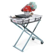 mk diamond tile saw folding stand with wheels contractors direct