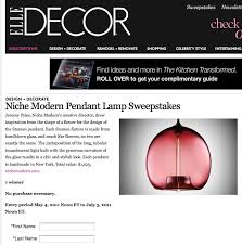 Elle Decor Sweepstakes And Giveaways by Modern Lighting Blog