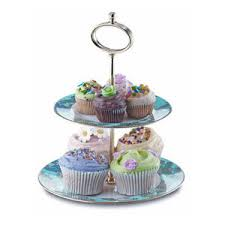 Porcelain Cake Stand 2 Tier Cake Stand