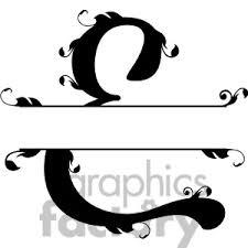 Split regal e monogram vector design folder