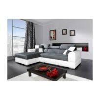 design canapé d angle marion microfibre gris et blanc