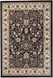 carpeto rugs teppich orientalisch wohnzimmer kurzflor esszimmer beige schwarz 130 x 190 cm m