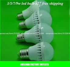ac220v high brightness warm white white led bulb e27 5w light
