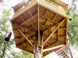 This Gorgeous Backyard Treehouse, Complete With A Bicycle Elevator ... Simple Diy Backyard Forts The Latest Home Decor Ideas Best 25 Fort Ideas On Pinterest Diy Tree House Wooden 12 Free Playhouse Plans The Kids Will Love Backyards Cozy Fort Wood Apollo Redwood Swingset And Gallery Pinteres Mesmerizing Rock Wall A 122 Pete Nelsons Tree Houses Let Homeowners Live High Life Shed Combination Playhouse Plans With Easy To Pergola Design Awesome Rustic Pergola Screen Easy Backyard Designs