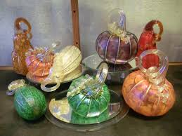 Glass Blown Pumpkins by Capitola Village The Craft Gallery And Annex