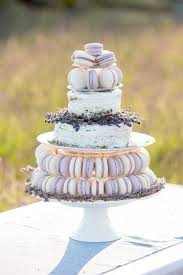 Lavender Cake Decor And Macarons