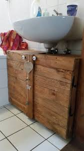 waschbeckenunterschrank aus paletten