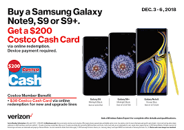 COSTCO - New Or Existing Verizon Customers - $200 Costco ...