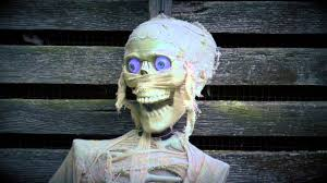 Motion Activated Outdoor Halloween Decorations by Motion Activated Halloween Mummy With Sound Sku 87581 Plow