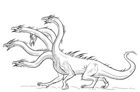 Click To See Printable Version Of Hydra Dragon Coloring Page