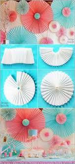 Large Paper Rosettes Spectacular DIY Party Decor Ideas